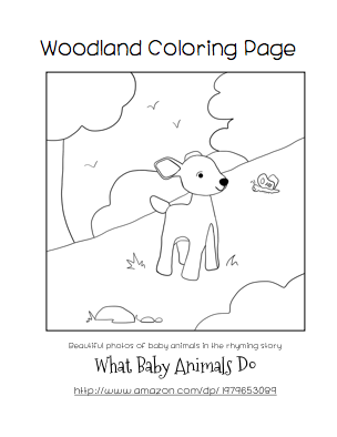 free woodland baby animals coloring page for children printable elle simms. Black Bedroom Furniture Sets. Home Design Ideas