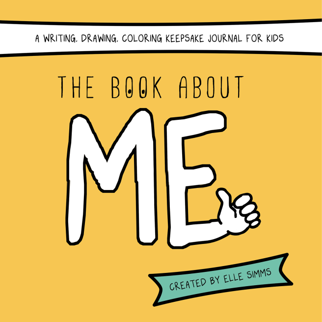 The Book About Me ( a writing, drawing, colouring keepsake journal for kids ) is FUN, bold and colorful, fill-it-in style, all about me book for kids age 4-8.