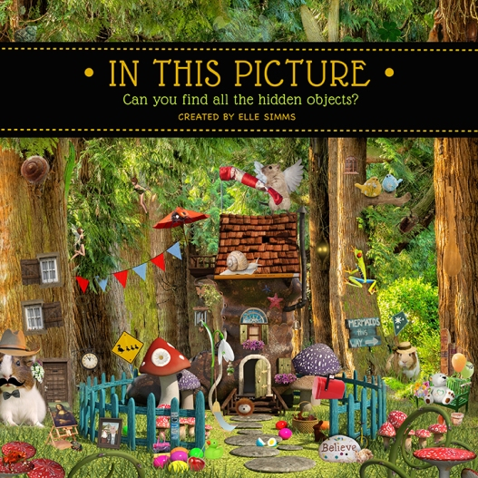 In This Picture is a hidden objects book for kids created by Amazon Bestseller Elle Simms. Featuring large, full color photos with dozens of objects hidden inside every picture, this hidden pictures book will entertain kids of all ages!
